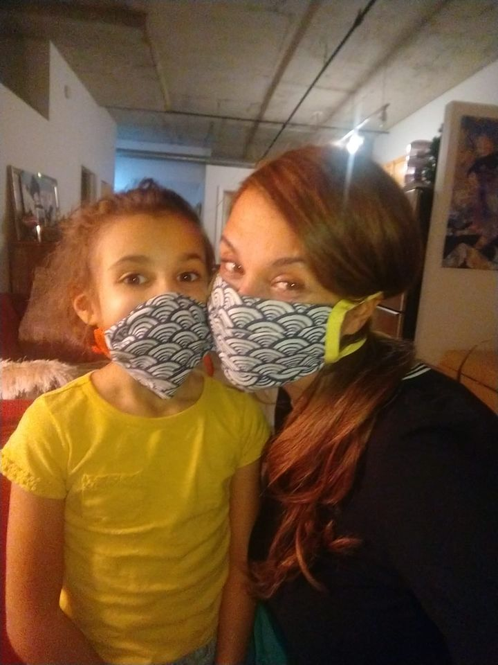 Ani and I in masks